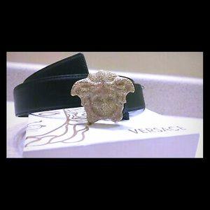 Versace 3D crystal belt